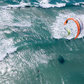 Kite surfing Cape Town by Anthony Allen - Sports & Fitness Watersports ( kite surfing, surfing, wave riders, kite boarding, carving, blouberg, wave riding )