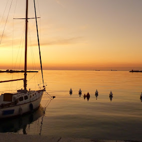Trieste by Gabrielle Phillips - Landscapes Travel ( trieste, sunset, yacht )