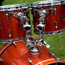 Sonor by Mick Wells - Artistic Objects Musical Instruments ( musical instrument, red, green, silver, drums,  )