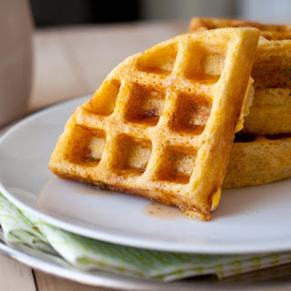 Jalapeno Corn Waffles with Sriracha Maple Syrup