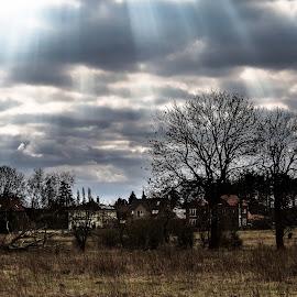 When the sun comes by Jürgen Sprengart - Landscapes Cloud Formations ( cloudscape, olfen, stever, sun )