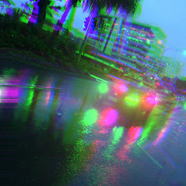 A midnight drive by Caroline  Hy - City,  Street & Park  Street Scenes