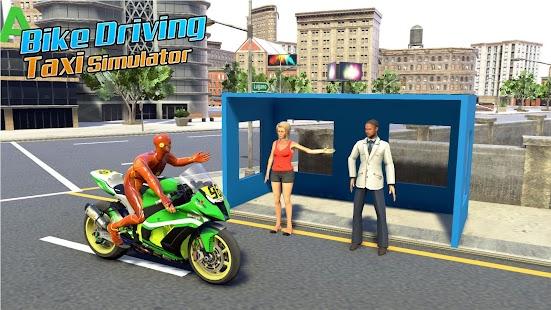 Superhero Bike Taxi Simulator: Bike Driving Games