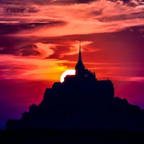 Mon Saint-Michel by Teus Renes - Landscapes Sunsets & Sunrises ( saint-michel, bretagne, mon saint-michel )