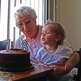 Turning 78 by Daryl Peck - Novices Only Portraits & People ( cake, birthday, old, people, young, portrait, grandparent, kid,  )