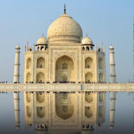 The Taj Mahal !! by Sudipto Chakraborty - Buildings & Architecture Public & Historical ( monuments, sky, white, taj mahal, agra, india )