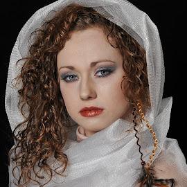 Vicki in White by Tim Harris - People Portraits of Women ( models, best female portrait, model, portraits of women, female, modeling, best female portraiture, lady, portrait )