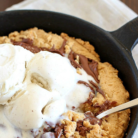 Nutella Swirled Skillet Cookie