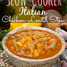 Slow Cooker Italian Chicken Lentil Stew