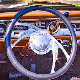 64 Falcon Dashboard by Pat Lasley - Transportation Automobiles ( car, classic car, automobile, wheels, dashboard )