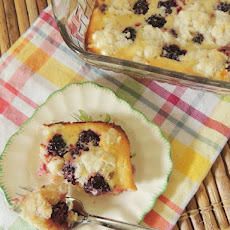 Blackberry Coconut Custard Cobbler