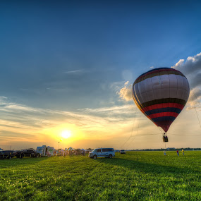 Balloons, Tunes, and Barbeque by Michael  Kitchen - Landscapes Sunsets & Sunrises