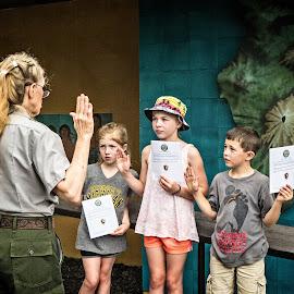 Future Rangers by Joseph Vittek - Babies & Children Children Candids ( puu hanua o honaunau, hawaii, big island, ranger, park )