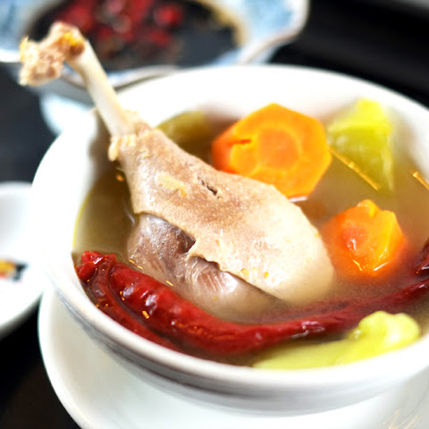 Salted Vegetable and Duck Soup