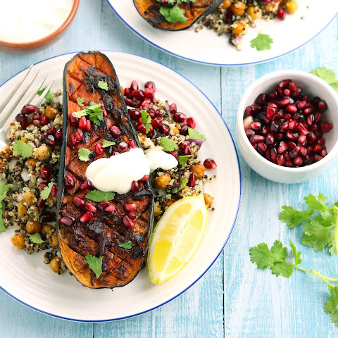 Harissa Roasted Aubergine with Chickpeas & Quinoa