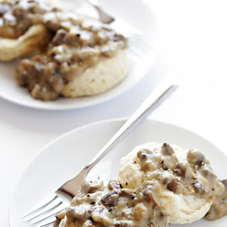 Biscuits and Mushroom Gravy (Vegan)