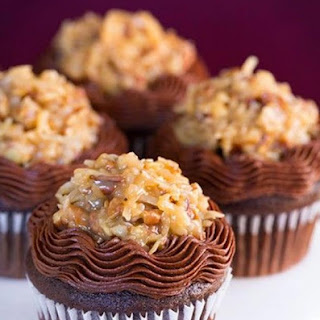 Fresh Luscious German Chocolate Cupcakes Pure Indulgence