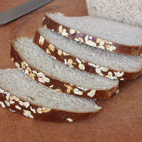 Whole Wheat Banana Oat Yeast Bread
