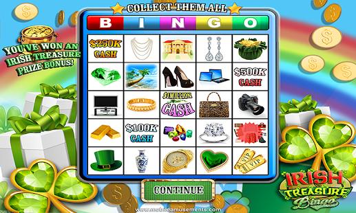 Game Irish Treasure Lucky Money Rainbow Bingo FREE apk for kindle fire