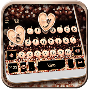 Rose Gold Luxury Pearls Keyboard Theme