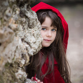 Little Red Riding hood by Claire Rossignol - Babies & Children Child Portraits (  )