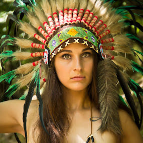 Native American Girl / Jackie 006 by Barry Blaisdell - People Portraits of Women ( sexy, model, nature, outdoors, beautiful, indian, native american )