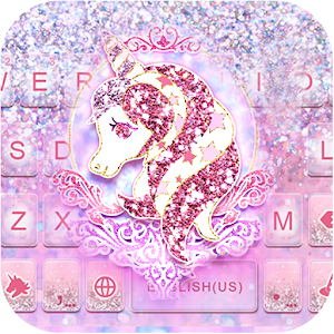 Glitter Unicorn Keyboard Theme For PC (Windows & MAC)