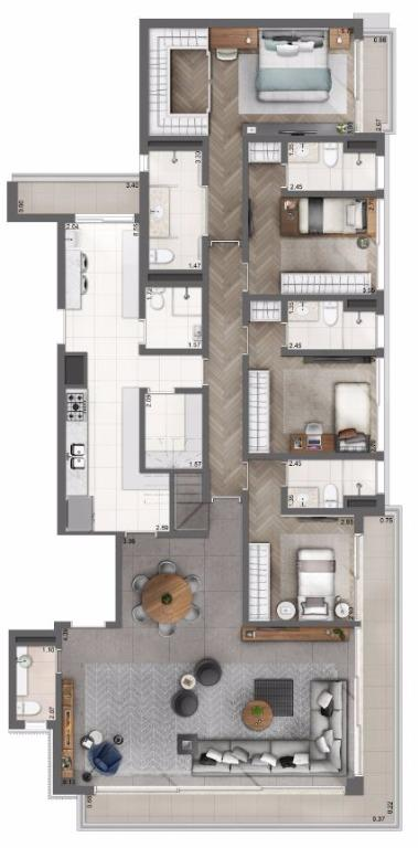 Cobertura Pav Inferior - 365 m²