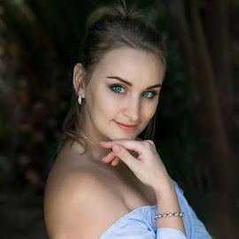 Anneline by Deon De Jager - People Portraits of Women ( beuty, blue, portrait, eyes, smile )