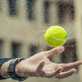 Galaxy in Hand by Abhishek Pratap - Abstract Water Drops & Splashes ( water, abstract, sports, people, street photography )
