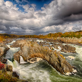 The Great Falls by Kevin Miller - Landscapes Waterscapes