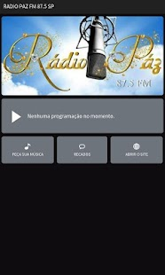 Rádio Paz FM 87.5 SP - screenshot