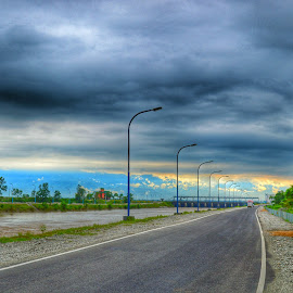 Just before rain by Uttam Das - Landscapes Weather ( clouds, trees, bridge, road, landscape, tunnel, skyscape,  )