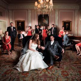 Wedding Party by Benjamin Lehman - Wedding Bride & Groom ( alien bees, 5d mark ii, canon, flash, benjamin, wedding, lehman, party, bride, groom, photography )