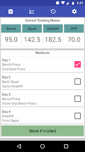 Nsuns 5/3/1 Program Log Fitness app screenshot 1 for Android