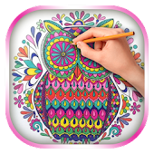 App Owls Coloring Book for Adults APK for Kindle