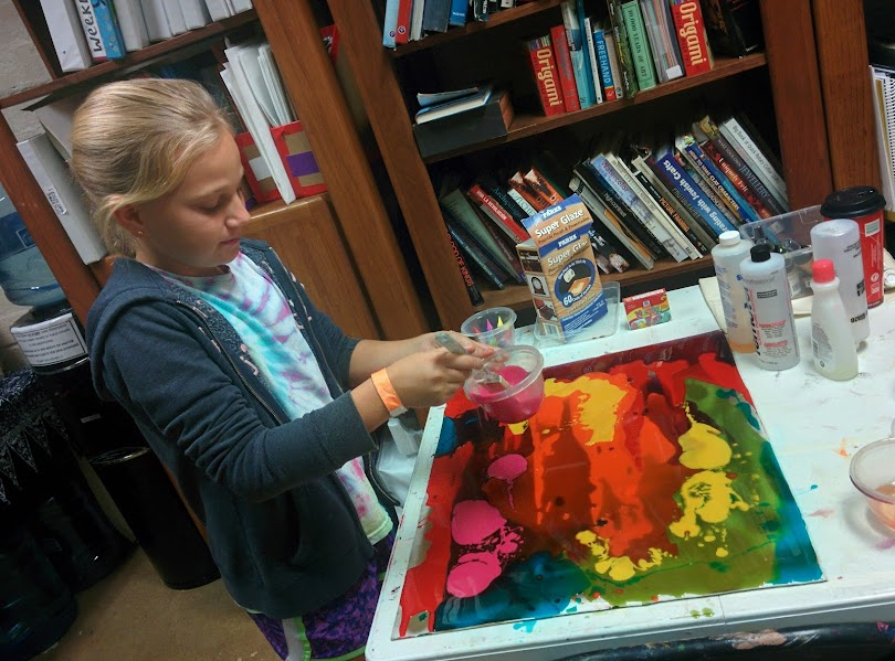 Using tinted resin to create a beautiful glass-like masterpiece