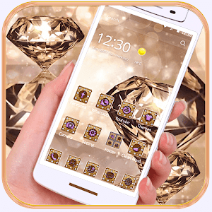 rock crystal diamonds theme for Android