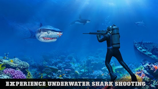 Underwater Tiger Shark Attack FPS Sniper Shooter for pc