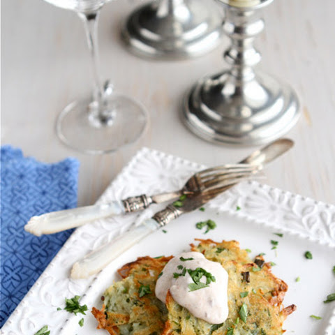 Baked Potato Pancakes (latkes) With Chipotle Yogurt Sauce