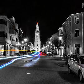 by Oddsteinn Björnsson - City,  Street & Park  Street Scenes