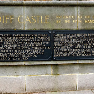 Cardiff Castle's history began with the first Roman fortress built in the 1st C. The Norman Conquest in the 11th C. brought impressive fortifications. In the 19th C. the apartments were extended for ...