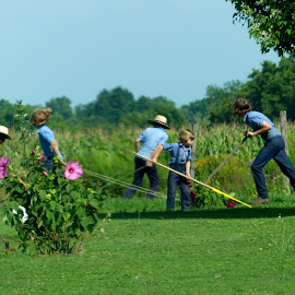 Getting the Job Done by Denise Guthery - Babies & Children Children Candids