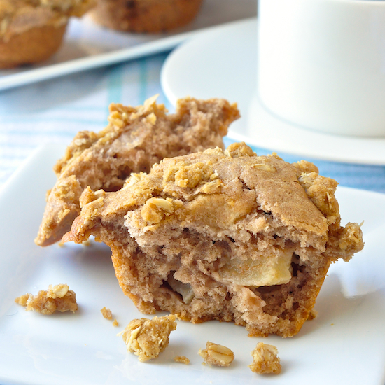 Apple Cinnamon Muffins with Oatmeal Crumble Streusel Recipe | Yummly