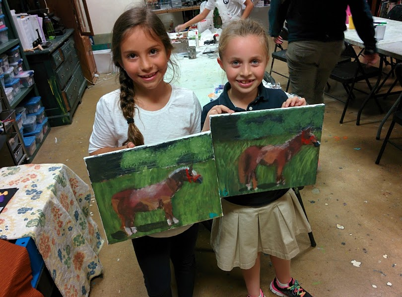 Best Friends and their best horse paintings!