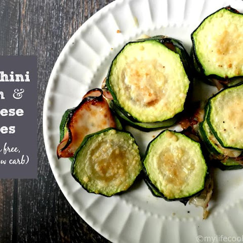 Zucchini Ham & Cheese Bites (GF, Low Carb, Paleo)