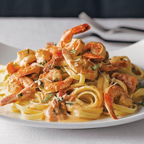 Easy Shrimp Pasta for Two