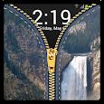 Zipper Lock Screen Waterfall