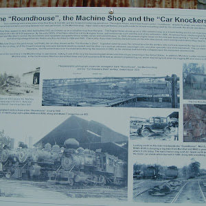 These buildings were at the heart of the Red River & Gulf RR, and the Crowell's lumbering operations. The engine house, which was known as the