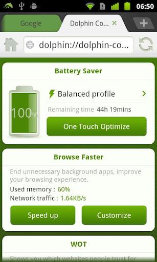 Dolphin Battery Saver screenshot 1